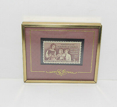 Framed Stamp National Education Association Nea Honoring The Teachers Of America