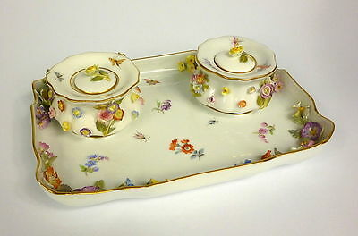Writing set Inkwell Meissen um 1860 5-piece