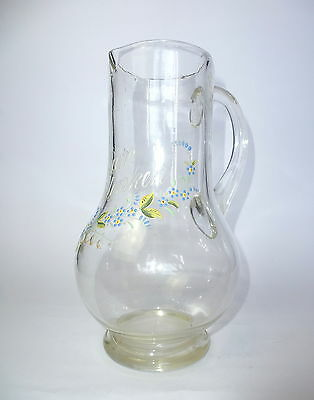 Glas Jug Jug with Enamel color painting um 1900 to the Memory