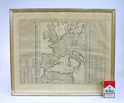 Antique Europa Map France 18 Jh ? Empire