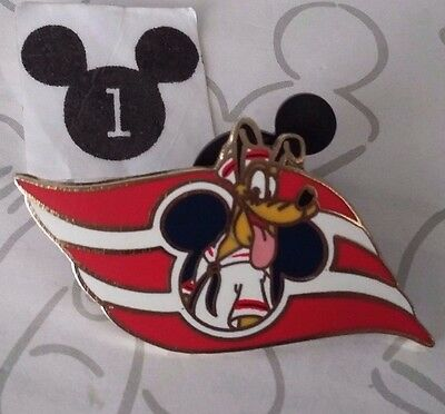 Sailor Hat Pluto DCL Wave Logo Disney Cruise Line Mickey Mouse Icon 2008 Pin