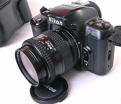 Nikon F601 35mm SLR Film Camera with 35-70mm Zoom Lens Case Student Outfit