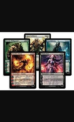 Mtg Planeswalker Repack! 5 Cards Total! Magic The Gathering Mythics!