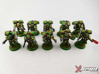 Assault  Squad [x10]  Space Marines [Warhammer 40,000 ] Painted