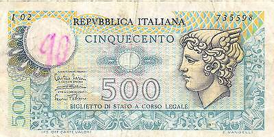 Italy  500 Lire  14.2.1974  Series I 02  circulated Banknote