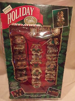 Holiday Carousel by Mr Christmas Lighted Musicall 6 Horses 21 Christmas Songs