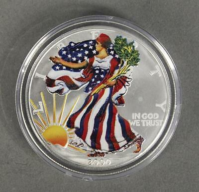 2000 Colorized Walking Liberty $1 Silver Coin