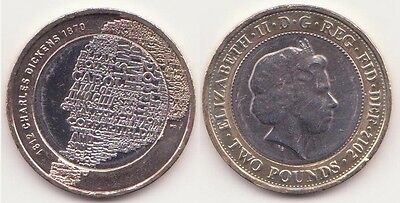 GREAT BRITAIN, 2 Pounds 2012 Coin UNC-, Charles Dickens