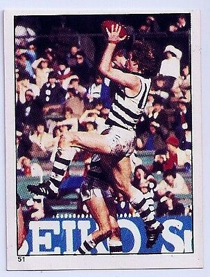 SCANLENS 1984 VFL/AFL FOOTBALL STICKER #51 Mossop MINT (Geelong)