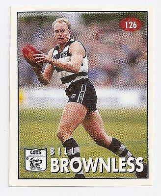 1996 SELECT  VFL/AFL FOOTBALL STICKER #126 Brownless MINT (Geelong)