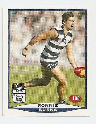 1997 SELECT VFL/AFL FOOTBALL STICKER #106 Burns MINT (Geelong)