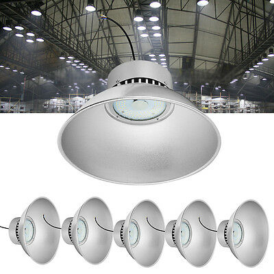 6X 50W LED High Bay Light Factory Warehouse Industrial Shed Lighting SMD Chips