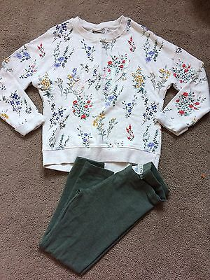 Gorgeous Girls Next Winter Christmas Outfit Age 7 Years Jumper And Leggings Set