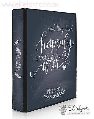 Personalised Wedding Planner/Diary/Book/Keepsake - Happily ever after