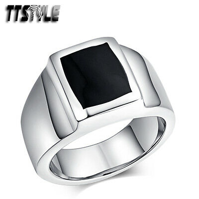 High Quality TTstyle 316L Stainless Steel Band Punk Ring Size 7-13 NEW