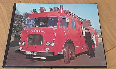 LARGE PHOTO DENNIS F44  FIRE APPLIANCE FOR FRAMING 1970's