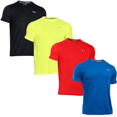 Under Armour Streaker Hommes Manches Courtes Fitness Course T-Shirt Tee