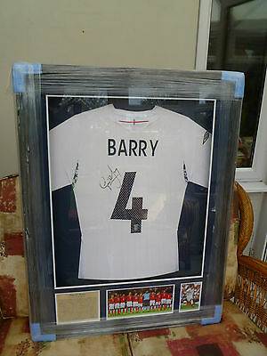 England Shirt Signed by Gareth Barry - Everton Manchester City & Aston Villa