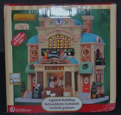 Lemax Village Collection  Marcel's Cooking School Lighted Building