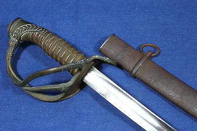 Antique French artillery officer sword model 1822-99 with scabbard - Late 19th