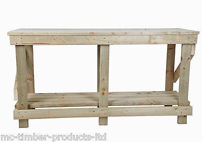 New Solid Glued & Pressed Wooden Top Workbench 3Ft 4Ft 5Ft 6Ft. Free Delivery