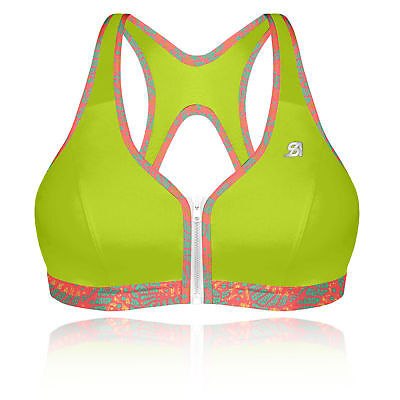 Shock Absorber Aktiv Damen Sport BH Fitness Bustier Top Push-Up BH Rosa Grau