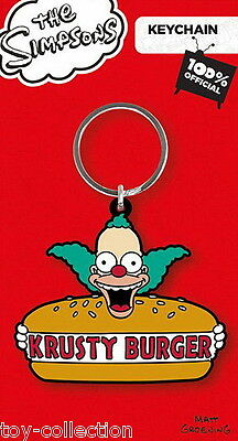 Krusty Burger - The Simpsons - Gummi Schlüsselanhänger / rubber keychain