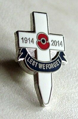 100th Anniversary Of WWI Veteran Poppy on Cross Lapel Pin