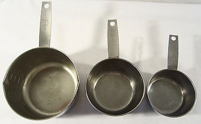 3 Vintage Foley Stainless Measuring Cups Including 3 vintage 2 Cup Butter Melter