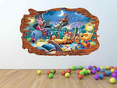 WINNIE THE POOH Broken / Smashed Wall Effect Vinyl Wall Sticker - pw196