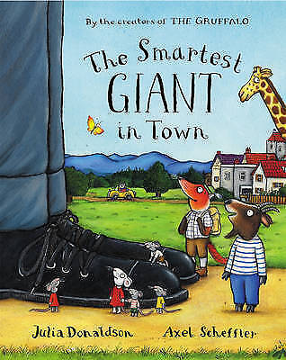 THE SMARTEST GIANT IN TOWN Children's Reading Picture Story Book JULIA DONALDSON