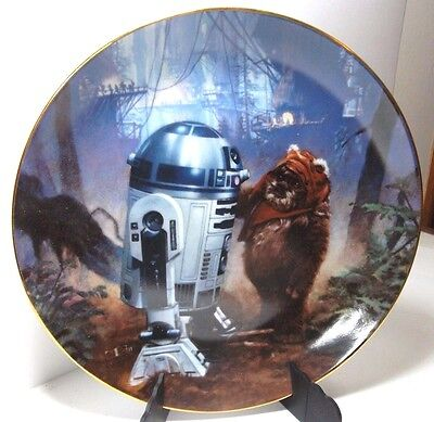 R2D2 & The Wicket -Star Wars Return of the Jedi Plate Hamilton Collection #0044u