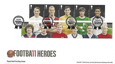 Gb 2013 Football Heroes Set On Royal Mail Fdc