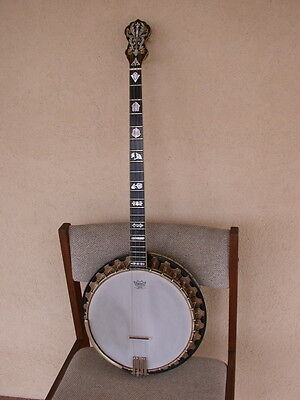 Extremely Rare Vega Vegaphone Deluxe Plectrum Banjo Top of the Line