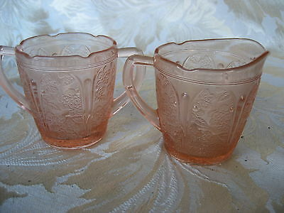 Fabulous Set of Childs Cherry Blossom Pink Sugar & Creamer Guaranteed Old