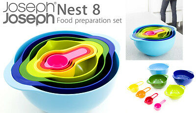Joseph Joseph Nest-8 piece set Bowl Colander Measuring Cups and more | NEW + BOX