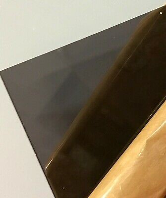 "#2074 Dark Gray//Smoke Transparent Acrylic sheet 1//8/"" x 5-1//2/"" x 5-1//2/"""