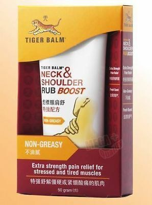 Tiger Balm Neck And Shoulder Rub Boost Extra Strength Warm Pain Relief 50g.