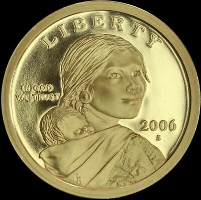 2006 S Native American Sacagawea Dollar Gem Deep Cameo PROOF US Mint Coin $