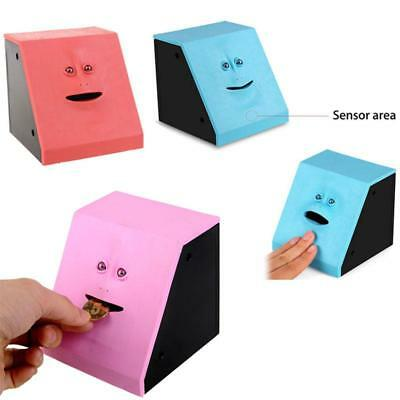 New Face Bank Sensor Piggy Bank Coin Chew Money Eating Box Gift Toy