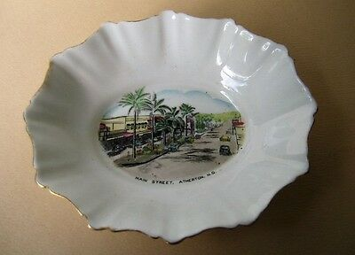 Vintage ROYAL STANDARD Bone China small dish MAIN STREET, ATHERTON QLD