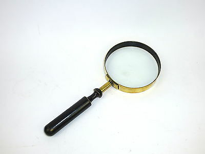 Large rare Magnifying glass with Wooden Handle um 1900