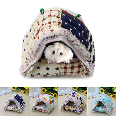 Small Animal Pet Hamster Rat Lovely Zipper Warm House Bed Cage Nest Mouse New