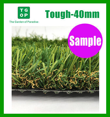 Sample Only!  Tough 40mm 4Tone Artificial Grass Synthetic Turf  Lawn Carpet