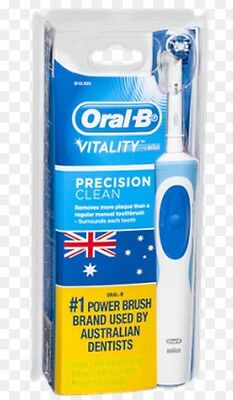 New Oral-B Vitality Precision Clean Electric Rechargeable Toothbrush + 2 Brush