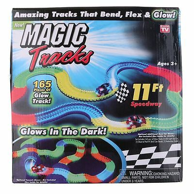 Newest Magic Tracks  Amazing Racetrack Can Bend Flex Glow 11Ft Toys Xmas Gift