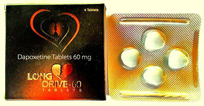 Long Drive 60mg Tablets 4 Tab for Longlast Sexual Drive & Wellness for Men