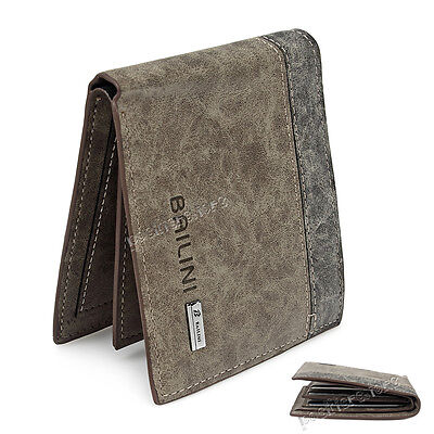 Brand New Mens Genuine Leather Wallet With Coin Bag Cowhide Purse ID Credit Card