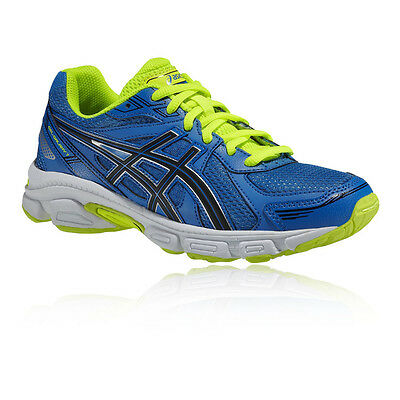 Asics Gel Galaxy 7 GS Junior Blue Cushioned Running Road Shoes Trainers