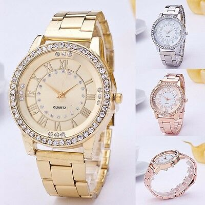 Women Fashion Luxury Crystal Casual Watch New Quartz Analog Bracelet Wristwatch